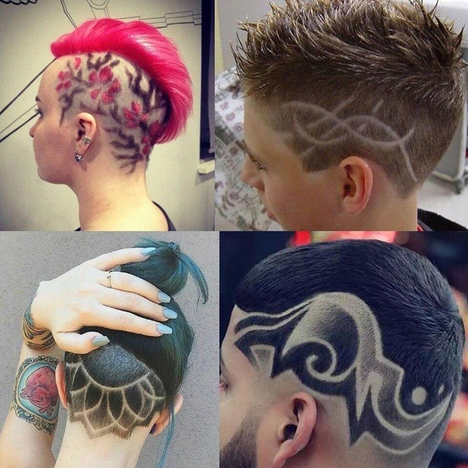 Fashion 25Pcs/set Men Cool DIY Salon Hair Tattoo Templates Stencil ...