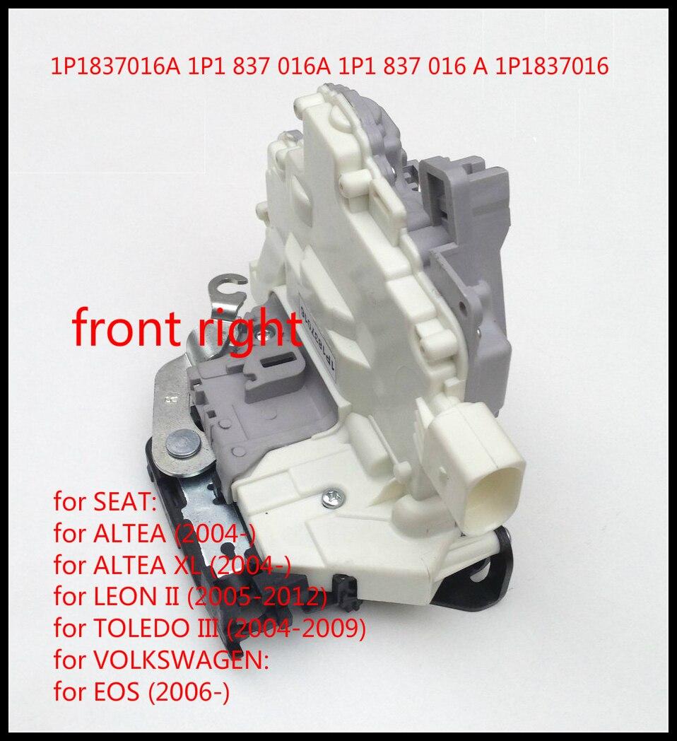 Per Seat Altea Toledo 3 mk3 Leon Altea XL 5P1 5P2 1P1 5P5 5P8/VW EOS 1F7 1F8 Serratura Chiusura Attuatore Anteriore Destro 1P1837016