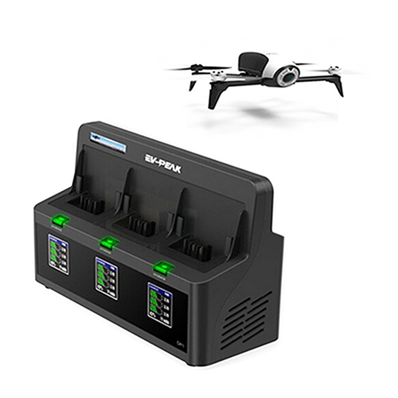 EV PEAK DP2 3 Channels 35W CH 3 5A CH Bebop Drone 2 Battery Charger with