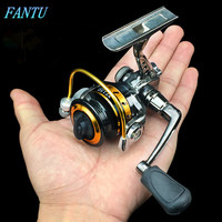FANTU Ice Fishing Reel 150# Full Metal Mini Spining Reel 4 Bearings Winter Small Ice Fishing Wire Wheel Accessories