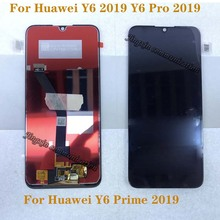 купить 6.01'' new LCD For Huawei Y6 PRO 2019 Y6 Prime 2019 LCD touch screen digitizer Assembly for Y6 2019 display Repair kit по цене 1222.51 рублей