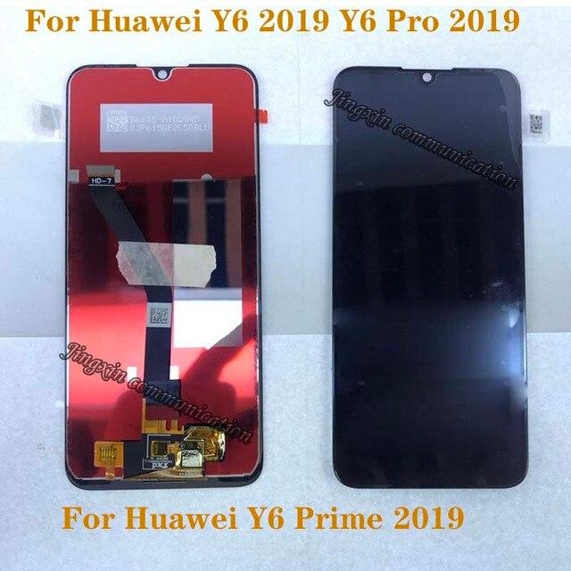 6.01 yeni LCD Için Huawei Y6 PRO 2019 Y6 Başbakan 2019 LCD dokunmatik ekranlı sayısallaştırıcı grup için Y6 2019 ekran tamir kiti