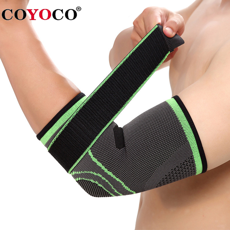 COYOCO Brand Bandage Elbow Pad Protect Support Knee Sleeve 1 Pcs Adjustable Sports