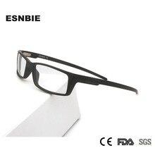 TR90 Plastic Titanium Vierkante Vintage Mens Brilmonturen Ultralight Brillen Wrap Sportbrillen Voor Mannen Nerd Clear Lens