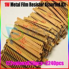 Новый!! 1 Вт Резистор Углерода Резистор Ассорти Комплект, для отбора проб, 0.33R ~ 4.7 М, 122ValuesX20PCS = 2440 ШТ.