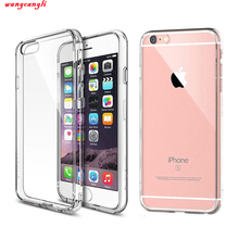 Wangcangli for iPhone6S plus 6S plus transparent original ultra-thin silicone phone case back cover for iPhone6 cloudy, soft bag цена и фото