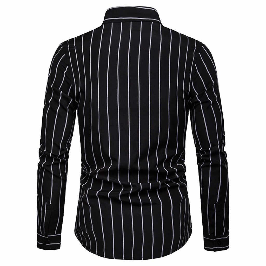 Mężczyźni z długim rękawem w paski malarstwo duży rozmiar top na co dzień mężczyźni koszule biznes formalne z długim rękawem bawełniana koszula nowe męskie ubrania