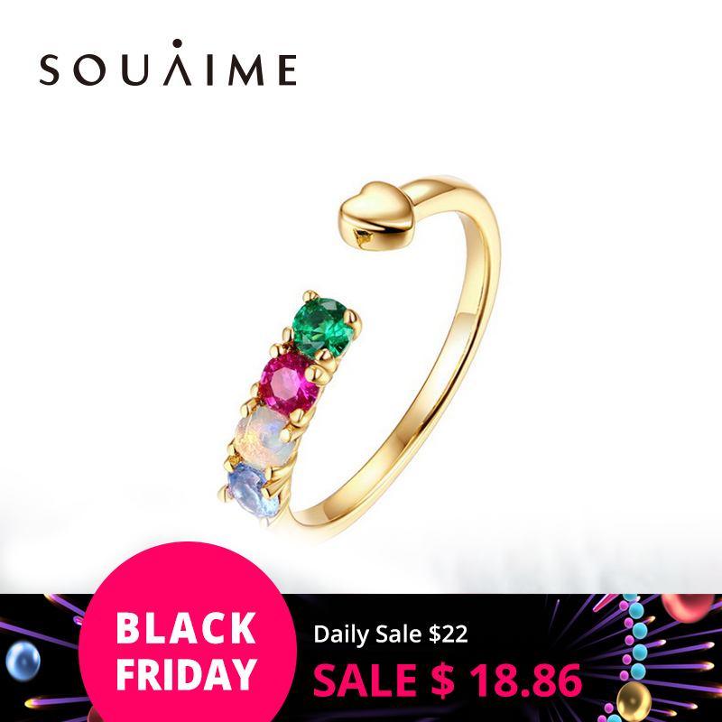 925 Sterling Silver Ring Natural Gemstone Pink Green Blue Fashion Ring for women Adjustable Engagement Wedding Gift Jewelry