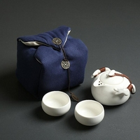 PINNY Ceramic Portable Tea Sets Include One Pot Two Cups Celadon Travel Tea Pot Chinese Porcelain Kung Fu Teapots Chinaware