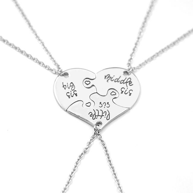 Fashion alloy pendants little middle big meaningful necklaces fashion alloy pendants little middle big meaningful necklaces pendants for sister or friends mozeypictures Image collections