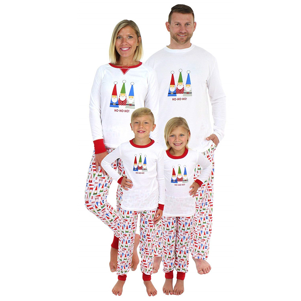 Brand Family Christmas Pajamas New Year Mother Daughter Outfits Family Matching Clothes Sleepwear Pajama Set Family Look CA482