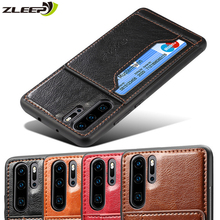 Leather Hawei P Smart Plus Y7 2019 Back Cover Case For