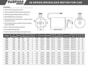 Image 5 - Водонепроницаемый бесщеточный мотор KK 2845 3,175 мм 2600KV 2800KV 3100KV 3800KV 4370KV 4400KV 5900KV для автомобилей Traxxas/HSP 1/12 RC