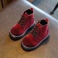 2016 otoño invierno nuevos niños botas niños botas casuales Martin botas de Corea niñas bebé de la manera Niños Otoño Zapatos de marea