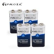 Пало 4 шт. ni-mh аккумуляторная батарея 6F22 9 в 300 мАч батареи для детекторы дыма, игрушки, беспроводные камеры, микрофоны батарея