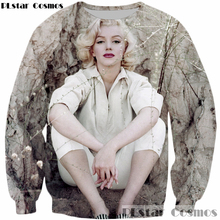 3331841da85c PLstar Cosmos 2017 Design Fashion 3D Sweatshirt Sex Goddess Marilyn Monroe  print Long Sleeve Outerwear Men