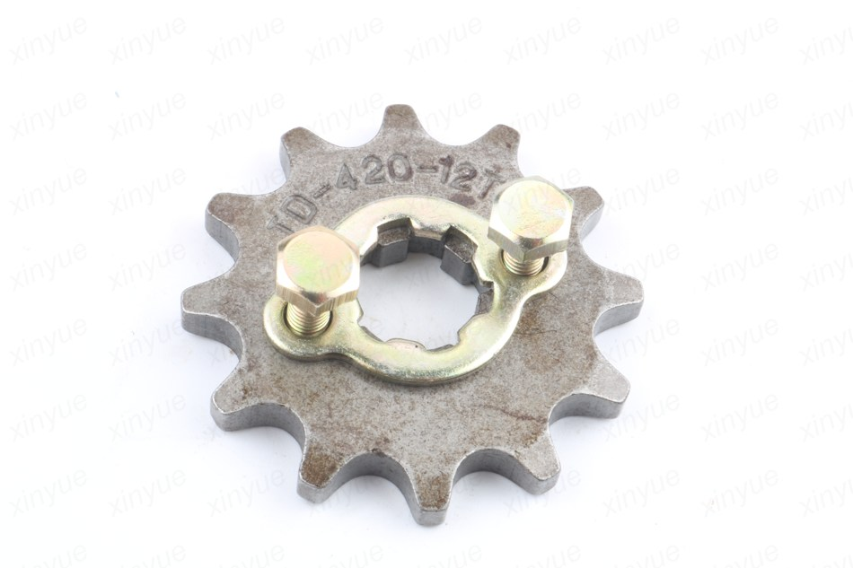Front Sprocket 420 Chain 12 Teeth with Retainer Plate Locker 50cc 125cc JH70 for Motorcycle ATV