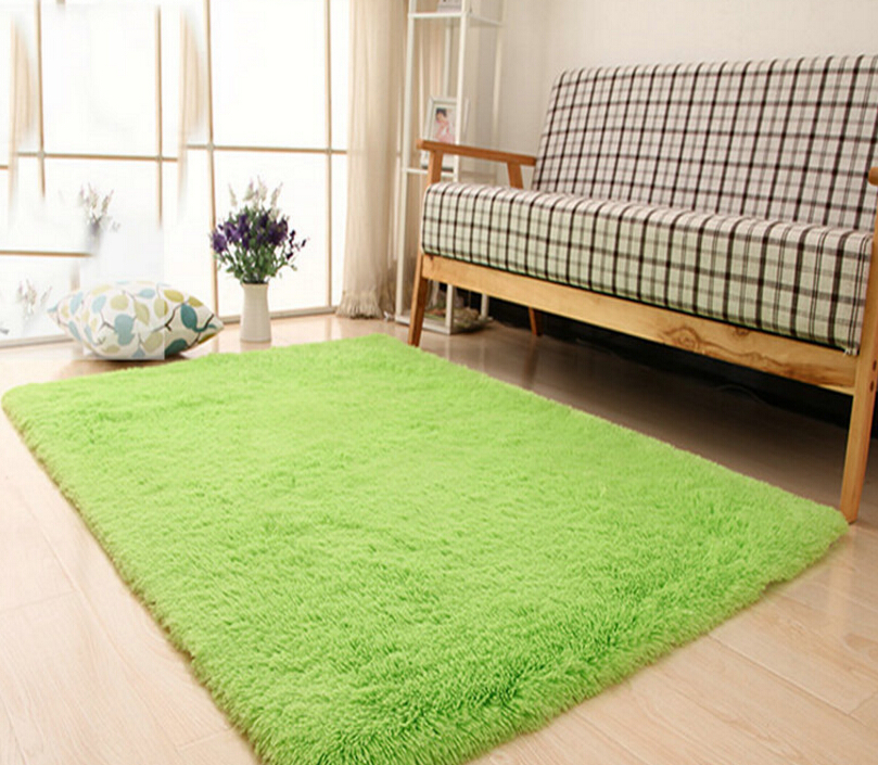 Living Room Carpet European Fluffy Mat Kids Room Rug Bedroom Mat Antiskid Soft Faux Fur Area Rug Rectangle Mats Gray Red Green 13