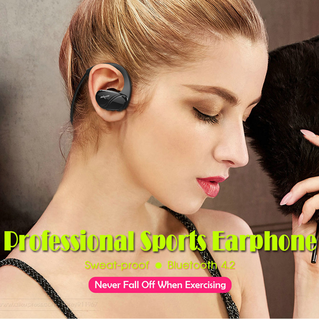 ZEALOT H6 Sports Bluetooth Headphones Stereo Bass Wireless Earphone With Mic Sports Music Earphones Headsets Handfree Microphone