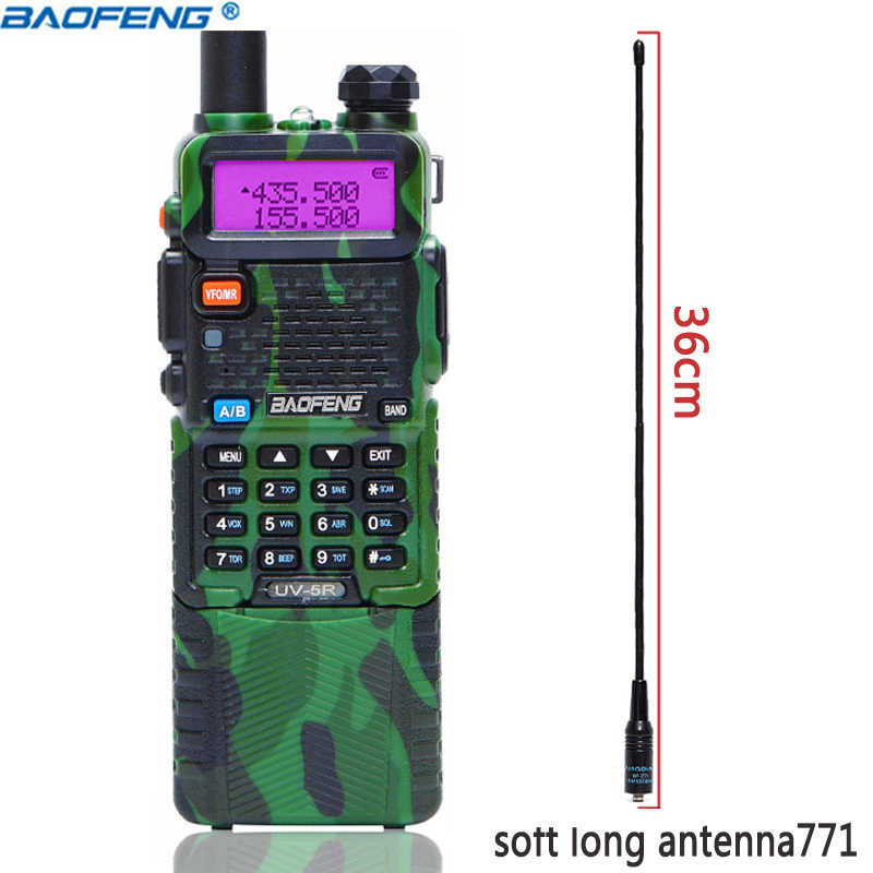 BaoFeng UV-5R 5 واط 3800 مللي أمبير طويلة بطارية ليثيوم أيون المزدوج الفرقة 136-174 و 400-520 ميجا هرتز هام CB اتجاهين راديو لاسلكي تخاطب الارسال UV5R