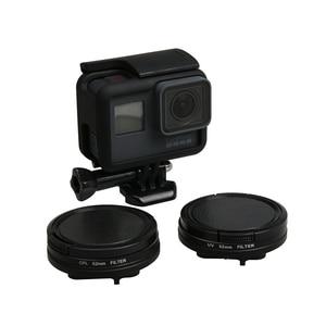 Image 5 - Cubierta impermeable de Metal negro de 52mm con polarización Circular CPL juego de filtros para lentes con adaptador de filtro para GoPro Hero 7 6 5