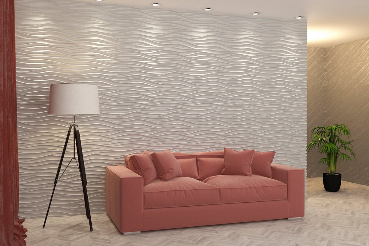 Wall-Panel Moulds-Mold PLASTER Decorative-Room Concrete WAVE 3D for Art-Decor