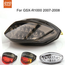 Motorcycle Integrated LED Tail Light Brake Turn Signal Blinker For Suzuki GSXR1000 GSX-R1000 2007 2008 motorcycle integrated led tail light brake turn signal blinker for suzuki gsxr1300 hayabusa gsx1300r 2008 2013