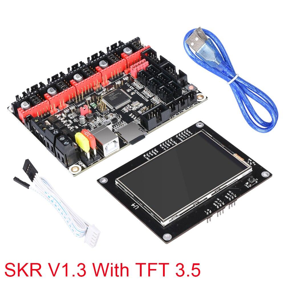 BIGTREETECH SKR V1.3 carte mère 32 bits avec écran tactile TFT 3.5 Compatible carte contrôleur de bord lisse pour imprimante 3d