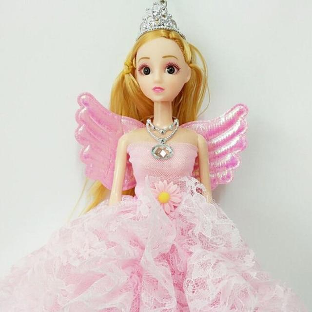 CXZYKING 3D Eye Barbie Doll + Wedding Dress Up Doll Party Clothes ...