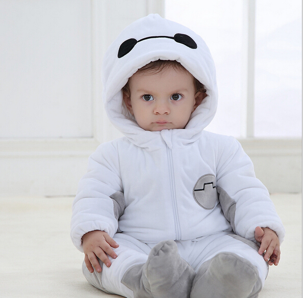 Fashion Character Style Winter Baby Clothes Lovely One-piece Romper Thick Newborn rope bebes Clothing