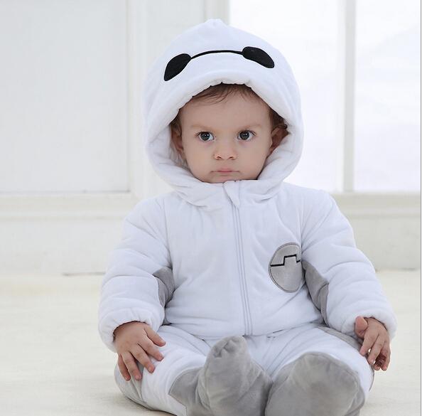 Moda Estilo de Caractere de Inverno Roupa Do Bebê Adorável One-piece Romper Recém-nascidos de Espessura corda Roupas bebes