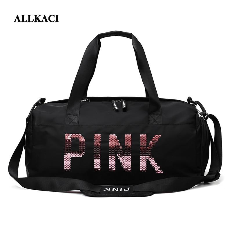 Travel Luggage Duffle Bag Lightweight Portable Handbag Pink Flamingo Pattern Large Capacity Waterproof Foldable Storage Tote