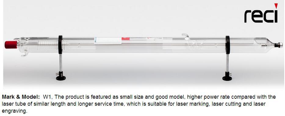 Reci W2 90 W-100 W CO2 Tube Laser boîte en bois longueur d'emballage 1200mm Dia. Découpeuse de gravure Laser CO2 80mm S2 Z2
