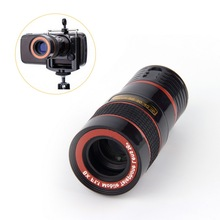 HW2016 NEW arrival  New Optical Lens 8X Zoom Telescope For Camera Mobile Phone 4s camera zoom Wholesale Store