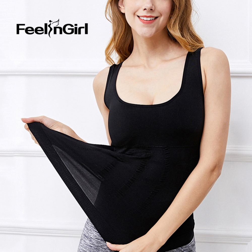 960464c86d0 FeelinGirl Hot Shaper Slim Up Lift Plus Size Bra Cami Tank Top Women Body  Shaper Underwear Slimming Vest Corset Shapewear E-in Tops from Underwear ...