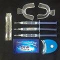 Profissionais Dentes Branqueamento Kit Com 3 Tiras de Gel 2 1 DIODO EMISSOR de Luz Fácil de Cuidados Seguros Blanqueador Clareador Dental Dente Branqueadoras cuidados