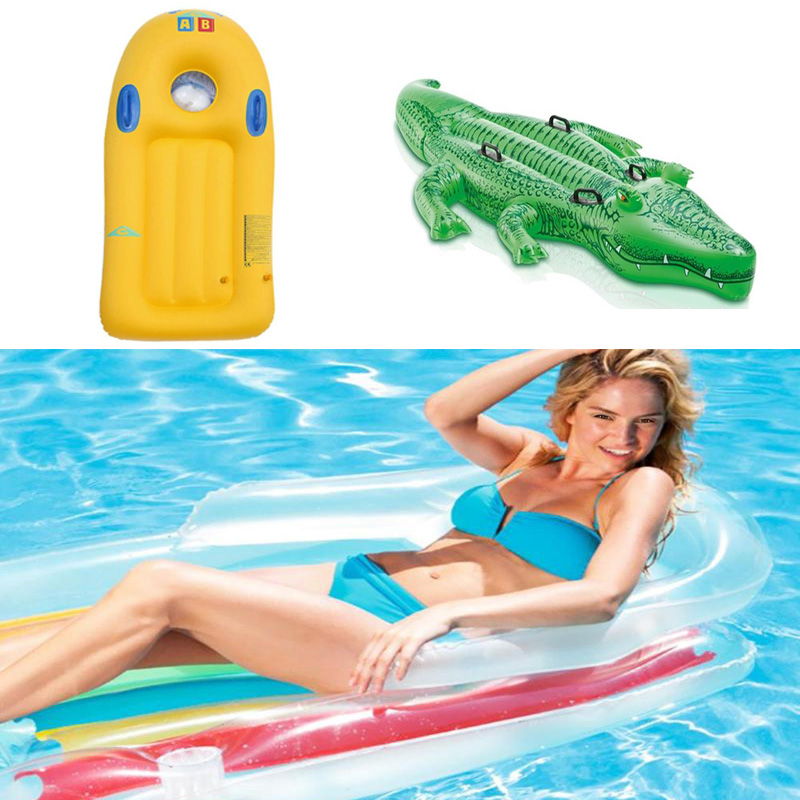 1set Summer Water Floating Row Inflatable Air Mattresses Swimming Pool Bed Mat Swimming Pool Float Swim Water Toysl Fun