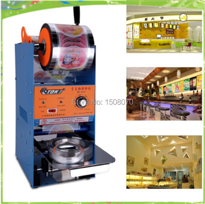 free shipping electric manual and automatic bubble tea cup sealing machine plastic cup sealer free shipping wholesale new fully automatic stainless steel bubble tea cup sealing machine tea cup sealer