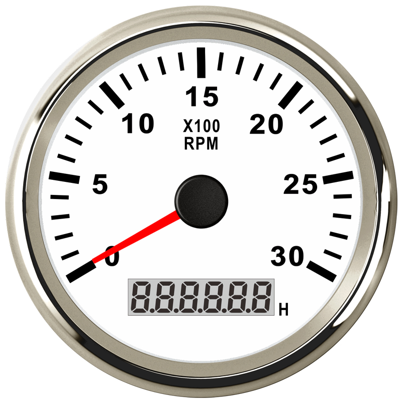 85mm Diesel Generator Engine Tachometer tacho gague 0 3000 rpm For Marine Auto Truck Boat With