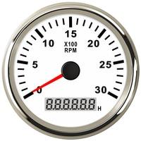 Tacômetro diesel do motor do gerador de 85mm tacho gague 0 3000 rpm para o barco marinho do caminhão do automóvel com ampulheta e luz de fundo de digitas|Tacômetros| |  -