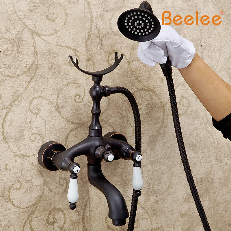 Beelee Bronze And Ceramic Bath Simple Shower Head Taken off The ...