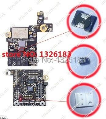 imágenes para 10 set/lote para iphone 5s lcd backlight dim/negro o no Reparación de Piezas de trabajo/Solución de filtro bobina de diodo fusible en la placa base