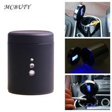 Aluminum Multifunction Car Ashtray Portable Automobile Ashtray Cigarette Ashtray Smoke Cup Holder LED font b lamp