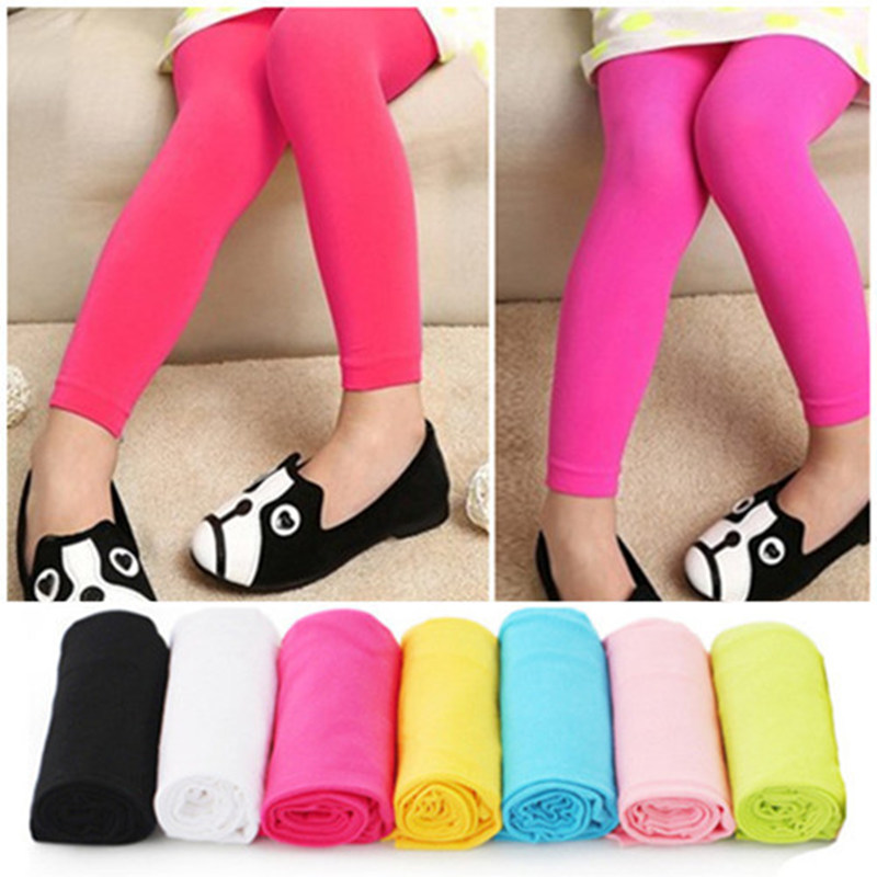 Summer Stockings Children Pantyhose Velvet Candy Colored Girls Nine Dance Leggings Baby Stockings