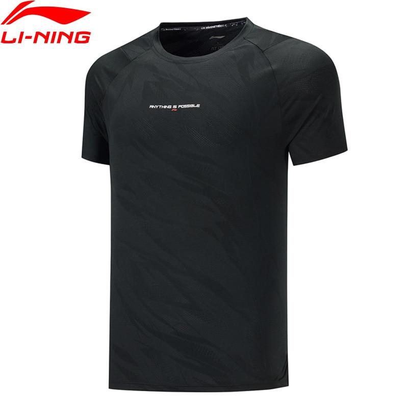 Li-ning hommes basket-ball T-Shirts ATDRY respirant Slim Fit 88.2% Polyester 11.8% Spandex doublure sport Tee hauts ATSP203 MTS3131