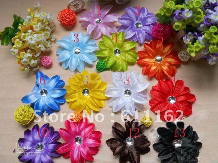 60 шт. цветок лилии волосы детей волос украшают цветок ребенок Лили волосы девушки волосы лук