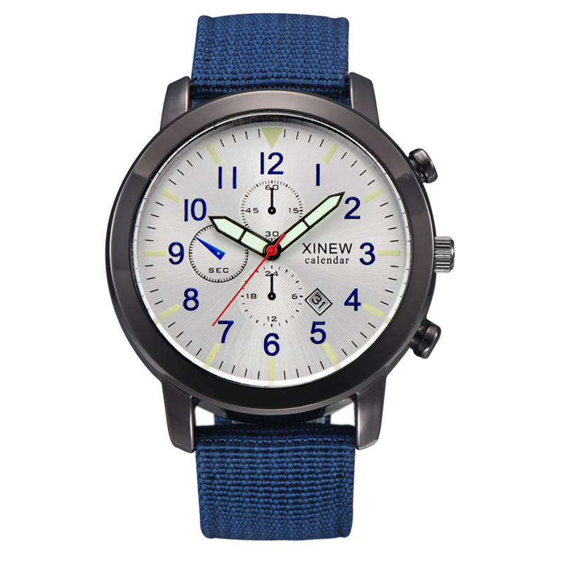 Fashion Casual Nylon Military Watches Men Simple Sports Quartz-Watch Luminous Hand Calendar Male Quartz Clock Man Wrist Watch цена