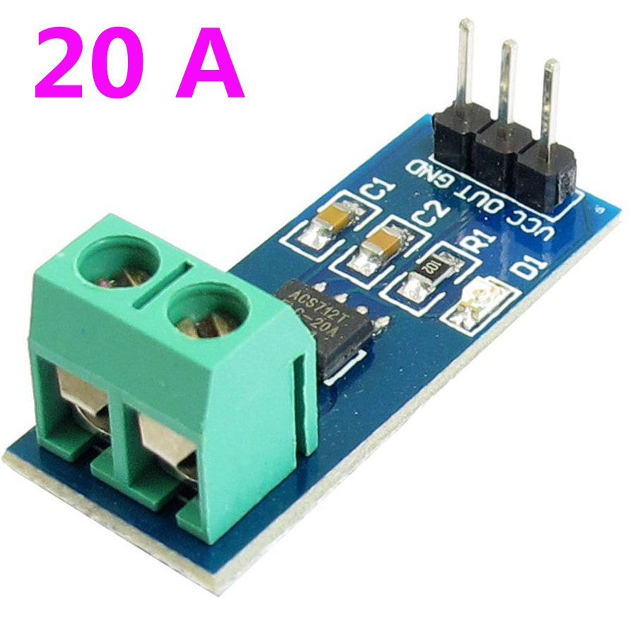 1 Pcs New 20a Range Acs712 Current Sensor Module Electronic Parts Ic Hall Effect Sensors Circuit Detector In From Components Supplies On