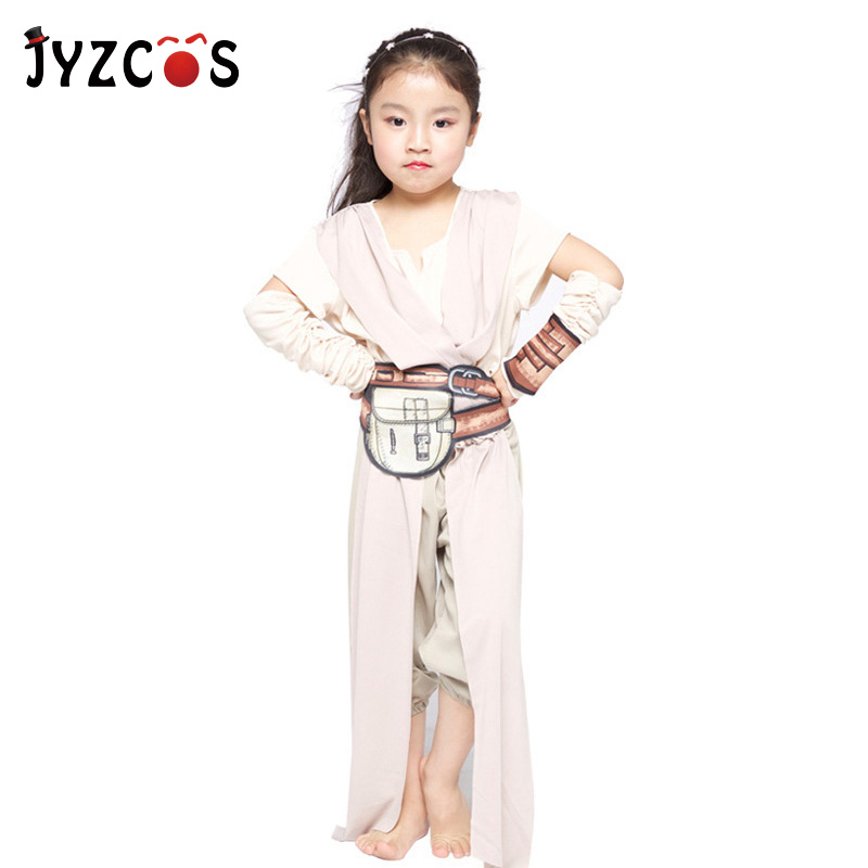 JYZCOS The Force Awakens Star Wars Rey Costume Party Halloween Purim Carnival Costumes for Girls Superhero Cosplay Costume