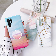 Colorful Marble Phone Case For Huawei P20 Pro P30 Lite Fundas Cover  Mate 20 Nova 3i Luxury TPU Bag